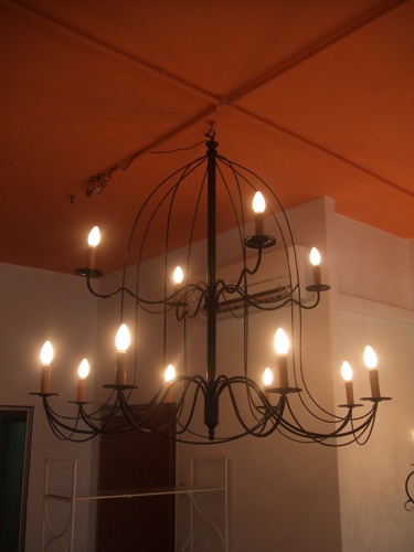 PL49 Wrought Iron Chandelier Pendant Lamp
